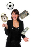 Businesswoman Juggling Responsibilities Royalty Free Stock Photo