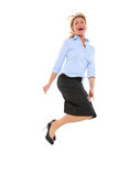 Businesswoman jumping Stock Photos