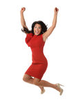 Businesswoman Jumping Royalty Free Stock Photos