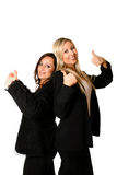 businesswoman kciuki w górę Zdjęcia Royalty Free