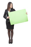Businesswoman keeping signboard Royalty Free Stock Images