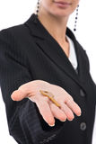 Businesswoman with key Royalty Free Stock Photo