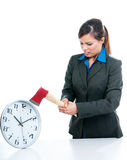 Businesswoman Killing Time Stock Images