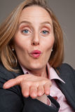 Businesswoman kiss Royalty Free Stock Images