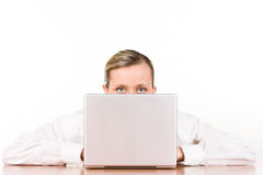 Businesswoman with laptop Stock Photography