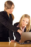 Businesswoman At Laptop Stock Photography
