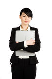 Businesswoman and laptop Royalty Free Stock Photo