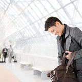 Businesswoman with laptop bag Stock Photography