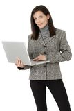 Businesswoman with laptop computer Royalty Free Stock Photography