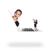 Businesswoman in laptop Stock Photo