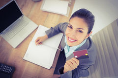 Businesswoman on laptop Royalty Free Stock Images