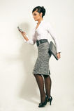 Businesswoman with Laptop and phone Royalty Free Stock Photo