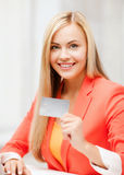 Businesswoman with laptop using credit card Stock Photography