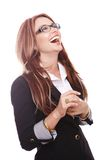 Businesswoman laughing Royalty Free Stock Images