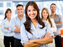 Businesswoman leading a team Stock Photography