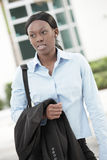 Businesswoman leaving work Royalty Free Stock Images