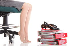 Businesswoman legs Royalty Free Stock Photo