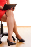 Businesswoman legs Stock Photo