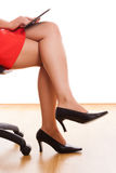 Businesswoman legs Royalty Free Stock Image