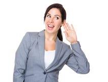 Businesswoman listen to someone Royalty Free Stock Photos