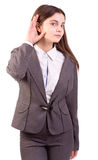 Businesswoman listening Royalty Free Stock Images