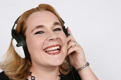Free Businesswoman Listening To Her Favorite Music Royalty Free Stock Photos - 412158