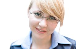 Businesswoman look at camera Royalty Free Stock Photos