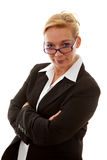 Businesswoman is looking with arms crossed Royalty Free Stock Photo