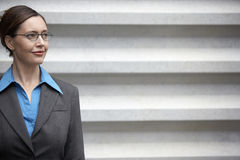 Businesswoman Looking Away Stock Images