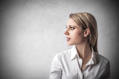 Businesswoman looking away Royalty Free Stock Photo