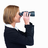 Businesswoman looking for business opportunities Royalty Free Stock Photo