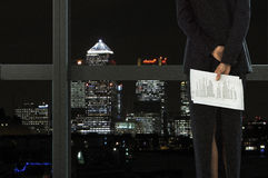 Businesswoman looking at city view royalty free stock image