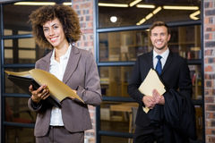 Businesswoman looking at documents Royalty Free Stock Photography