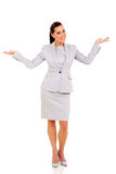 Businesswoman looking surprised Stock Photos