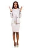 Businesswoman looking surprised Stock Photo