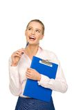 Businesswoman looking up Stock Images