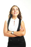 Businesswoman looking up Royalty Free Stock Images