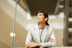 Businesswoman looking up Stock Photos