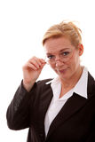 Businesswoman is looking at you Stock Images