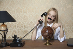 Businesswoman looks like a businessman Royalty Free Stock Images