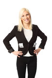 Businesswoman with lots of money Royalty Free Stock Photography
