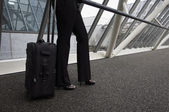 Businesswoman With Luggage Royalty Free Stock Photography