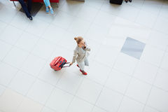 Businesswoman with luggage Stock Photos