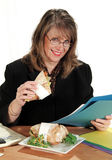 Businesswoman Lunch Royalty Free Stock Photography