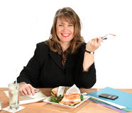 Businesswoman Lunch Royalty Free Stock Photo