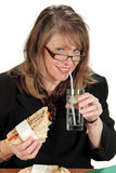 Businesswoman Lunch Stock Images