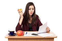 Businesswoman in lunch break Royalty Free Stock Photos