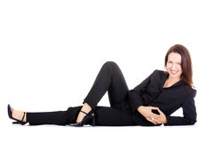 Businesswoman lying Royalty Free Stock Photography