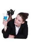 Businesswoman lying down Royalty Free Stock Photos