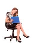 Businesswoman with magazine Royalty Free Stock Photo